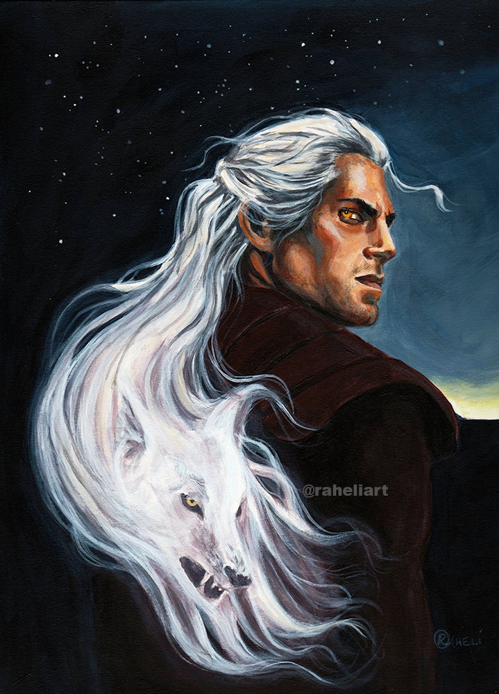 Image of The Witcher - White Wolf  PRINT
