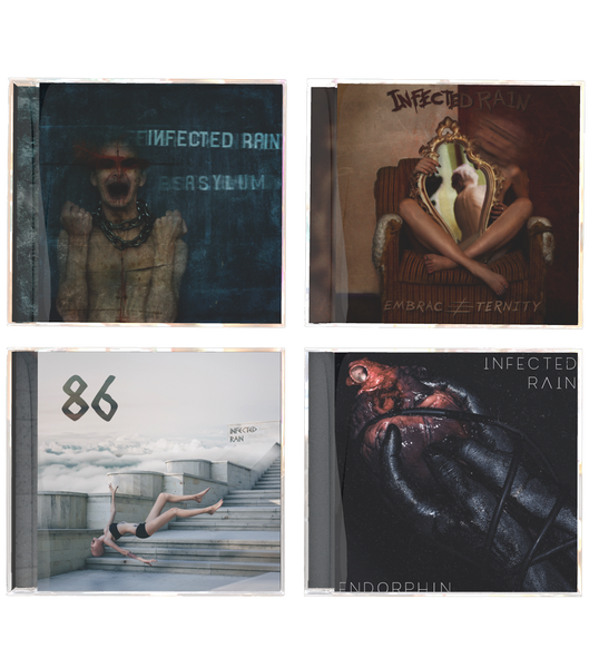 Image of 4 albums (ENDORPHIN, 86, Embrace Eternity, Asylum)