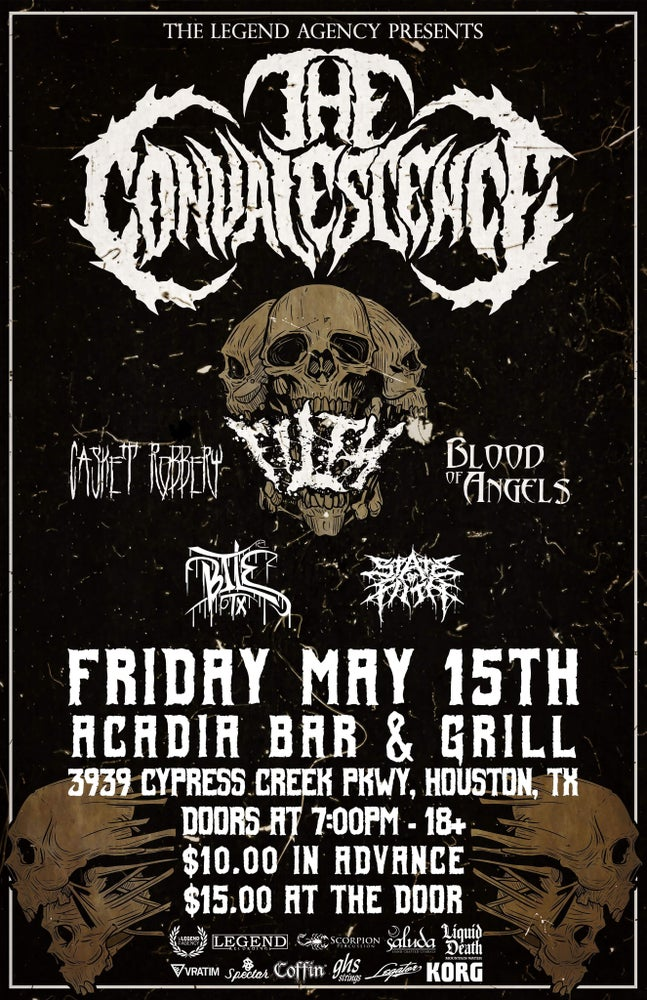 Image of The Convalescence, Filth, & More at Acadia Bar And Grill