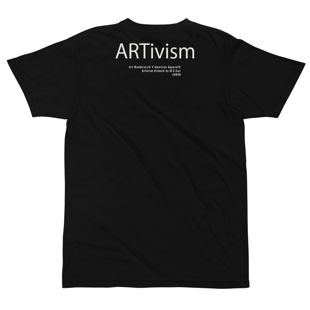 Image of Art Wanderers® X American Apparel® - ARTivism 1 - T-Shirt - Black