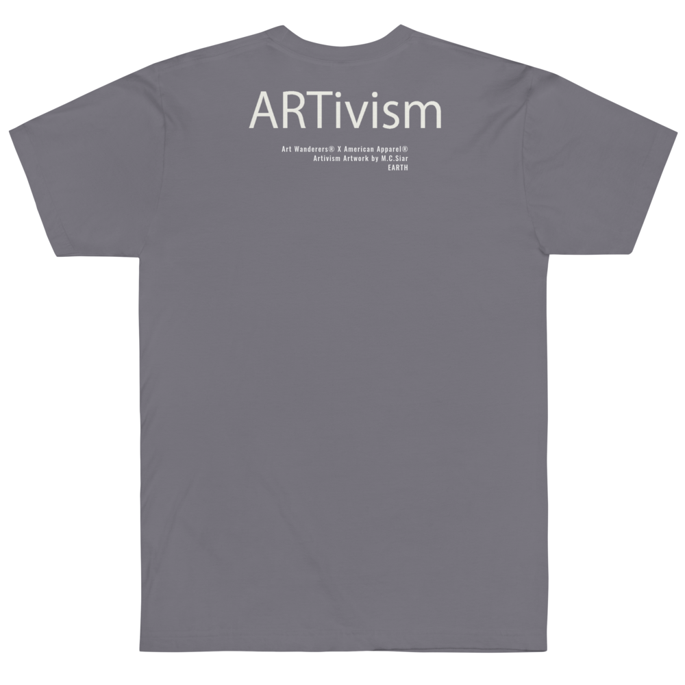 Image of Art Wanderers® X American Apparel® - ARTivism 1 - T-Shirt - Slate