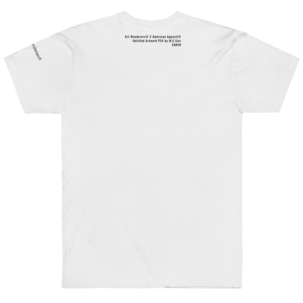 Image of Art Wanderers® X American Apparel® - Untitled Artwork P24 - T-Shirt - White
