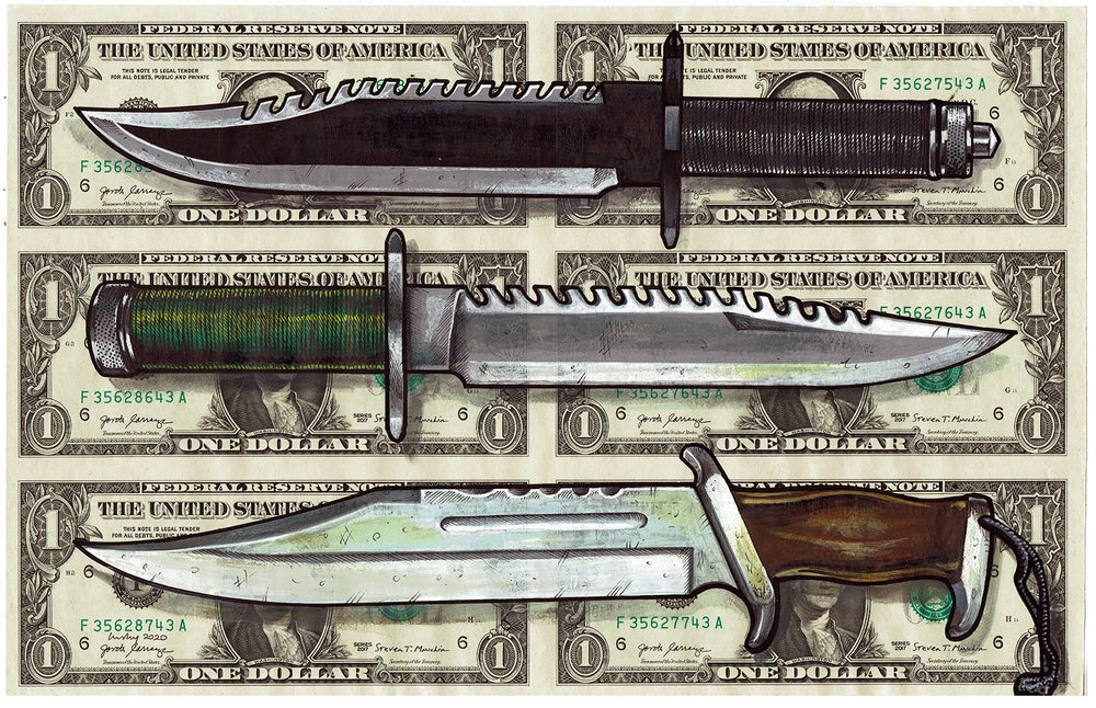 Image of Uncut Dollar Original. Rambo's Rack.