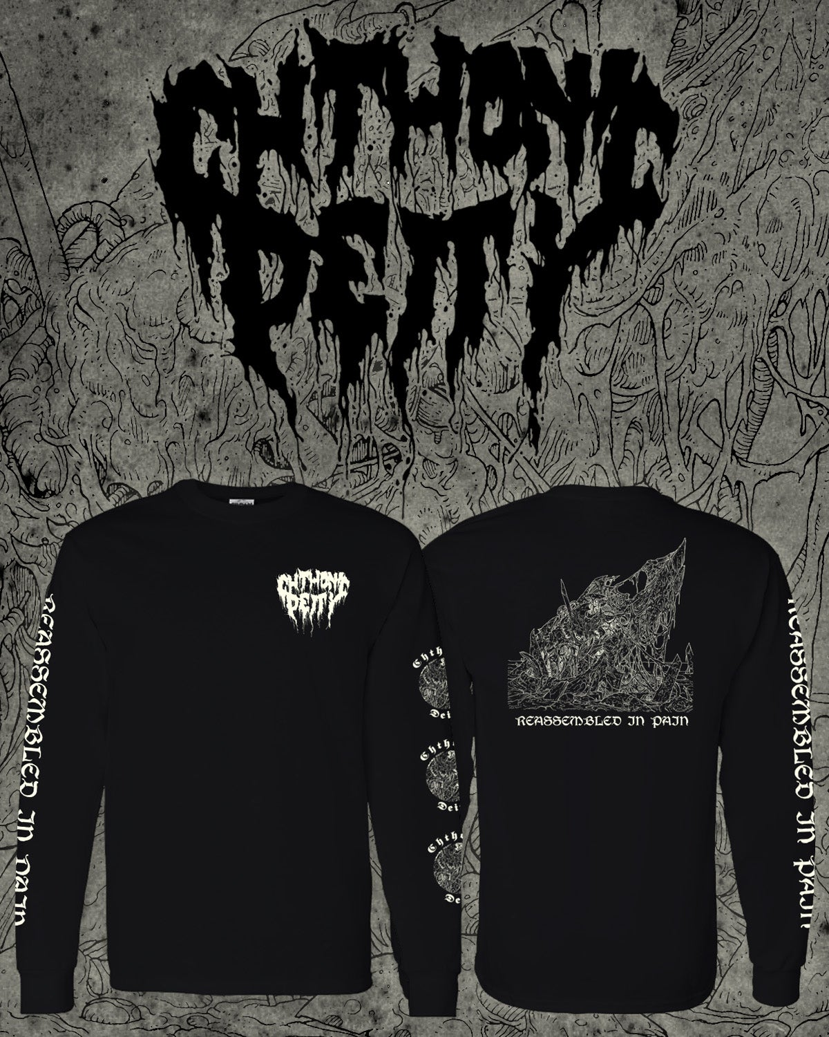 """Image of CHTHONIC DEITY """"Reassembled In Pain"""" Longsleeve"""