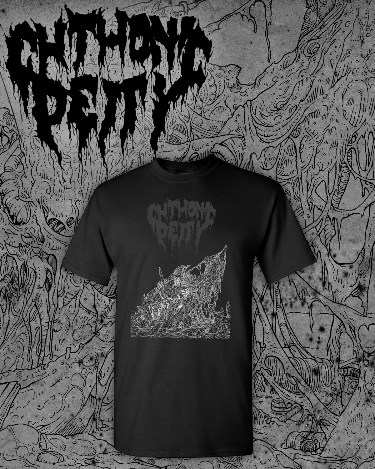 """Image of CHTHONIC DEITY """"Reassembled In Pain"""" Short Sleeve"""
