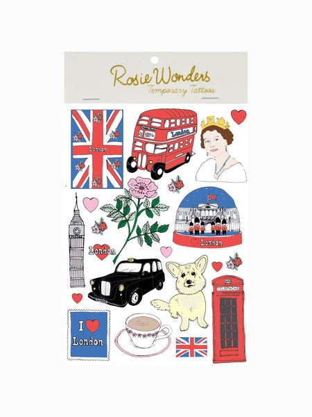 Image of London A6 Temporary Tattoos