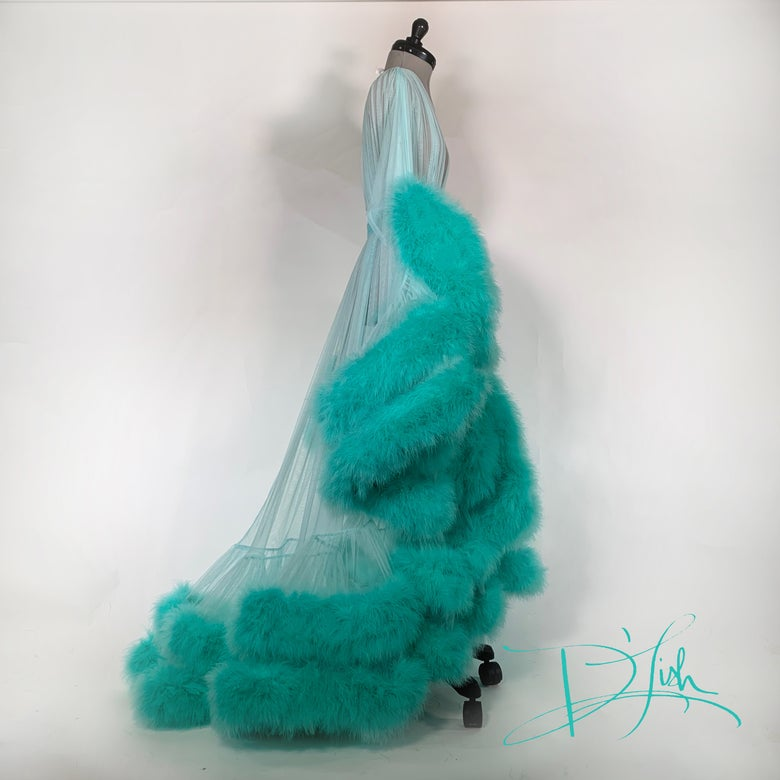 """Image of Double Deluxe Mint """"Cassandra"""" Dressing Gown"""