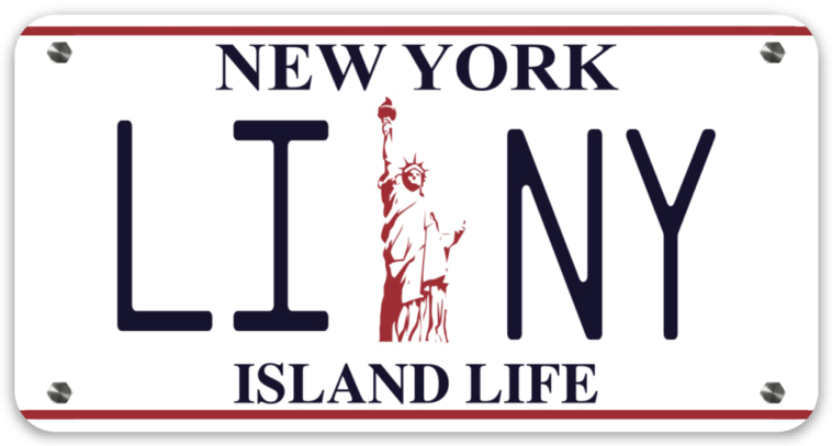 Image of LINY Lady Liberty License Plate Decal