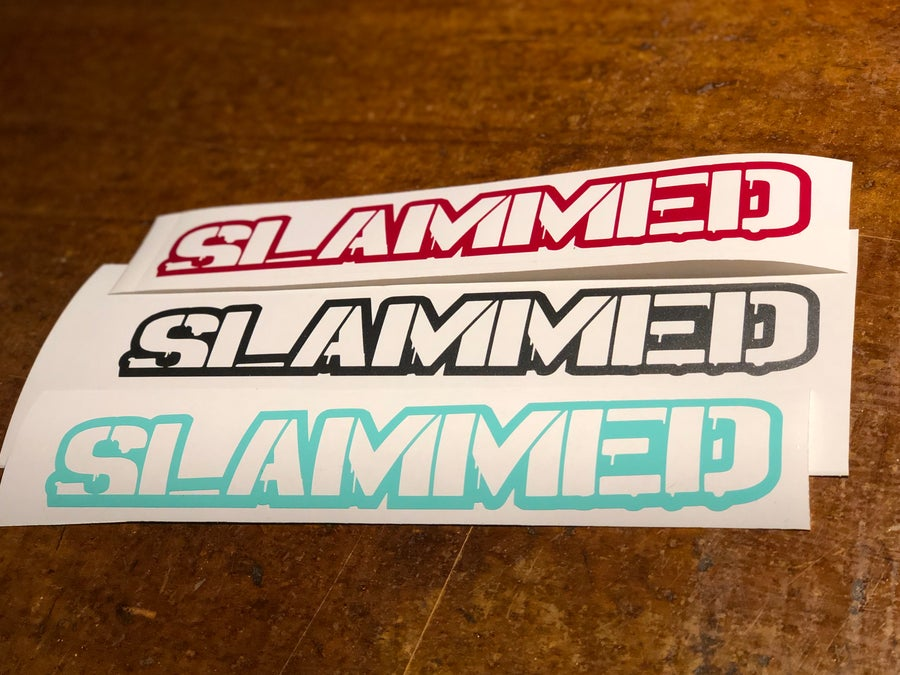 "Image of 10"" Slammed decal"