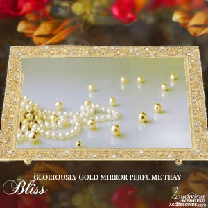 Image of Gloriously Gold Mirror Vanity Tray
