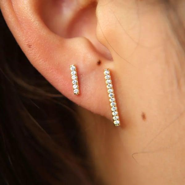 Image of Linear earrings