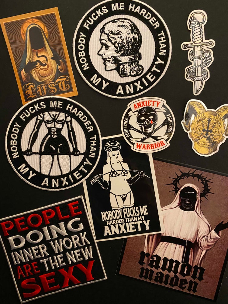 Image of ANXIETY WARRIOR -patches and stickers pack-