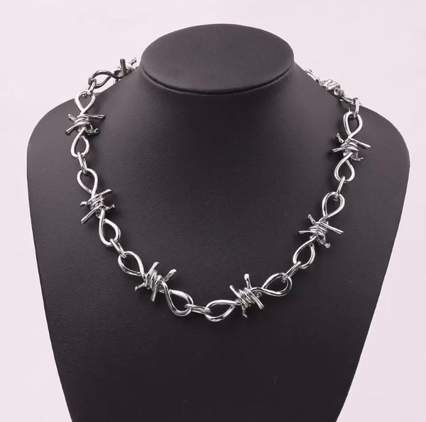 Image of Barbed Wire necklace choker