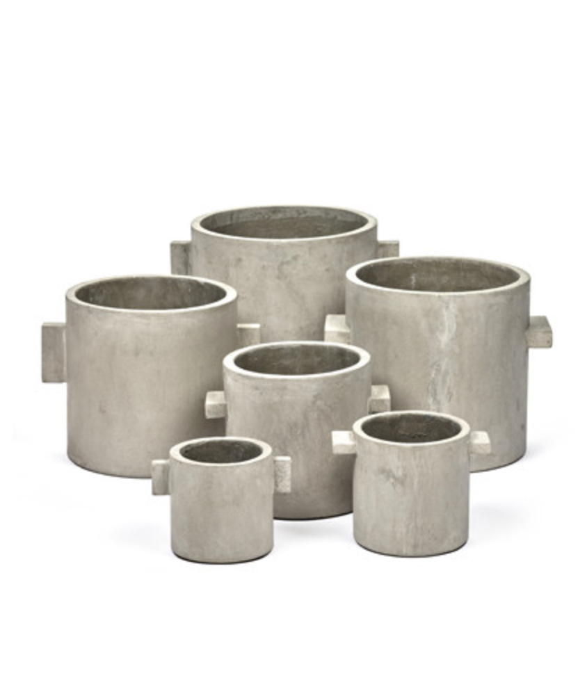 Image of Natural concrete Rond pot (small) by Marie Michelssen