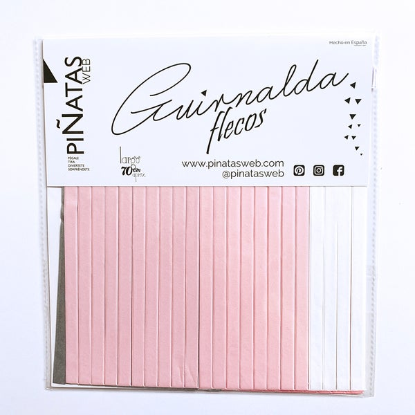 Image of Guirnalda de flecos Pink Grey