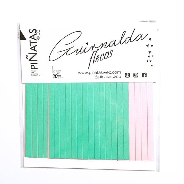 Image of Guirnalda de flecos Mint Pink