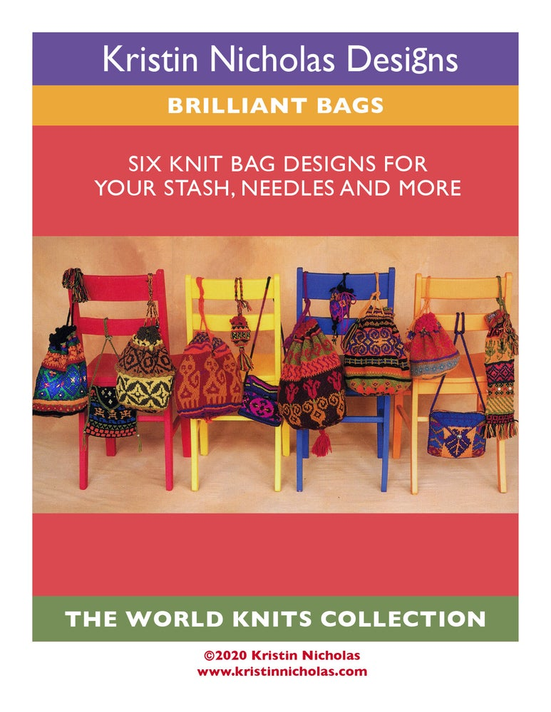 Image of Knit PDF - Brilliant Bags /World Knits Collection Download