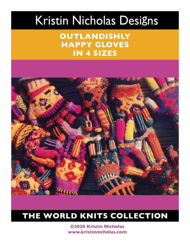Image of Knit PDF - Outlandishly Happy Gloves/World Knits Collection Download