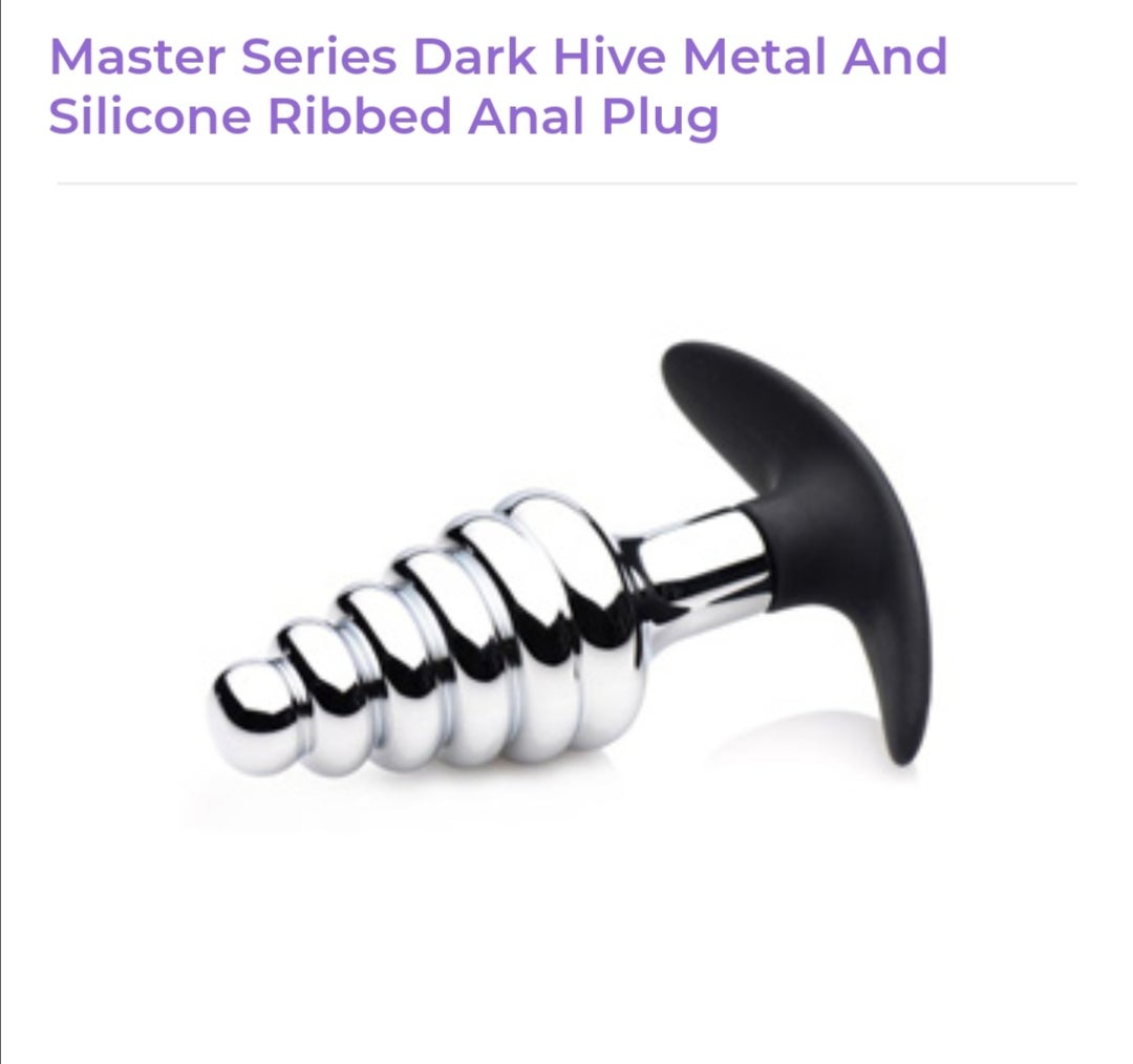 Image of Dark Hive Metal and Silicone Anal Plug