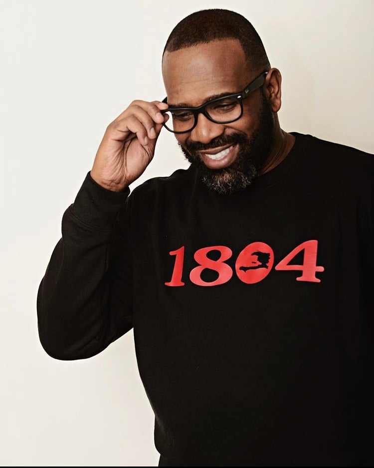 Image of RED ON BLACK 1804 SWEATSHIRT