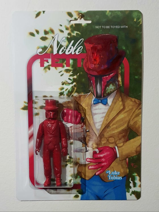 Image of Noble Fett art toy Red edition