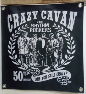 Image of NEW! CRAZY CAVAN 50th ANNIVERSARY BANNER (WITH FREE POSTER)