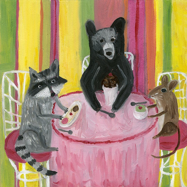Image of Ice cream social. Limited edition print.