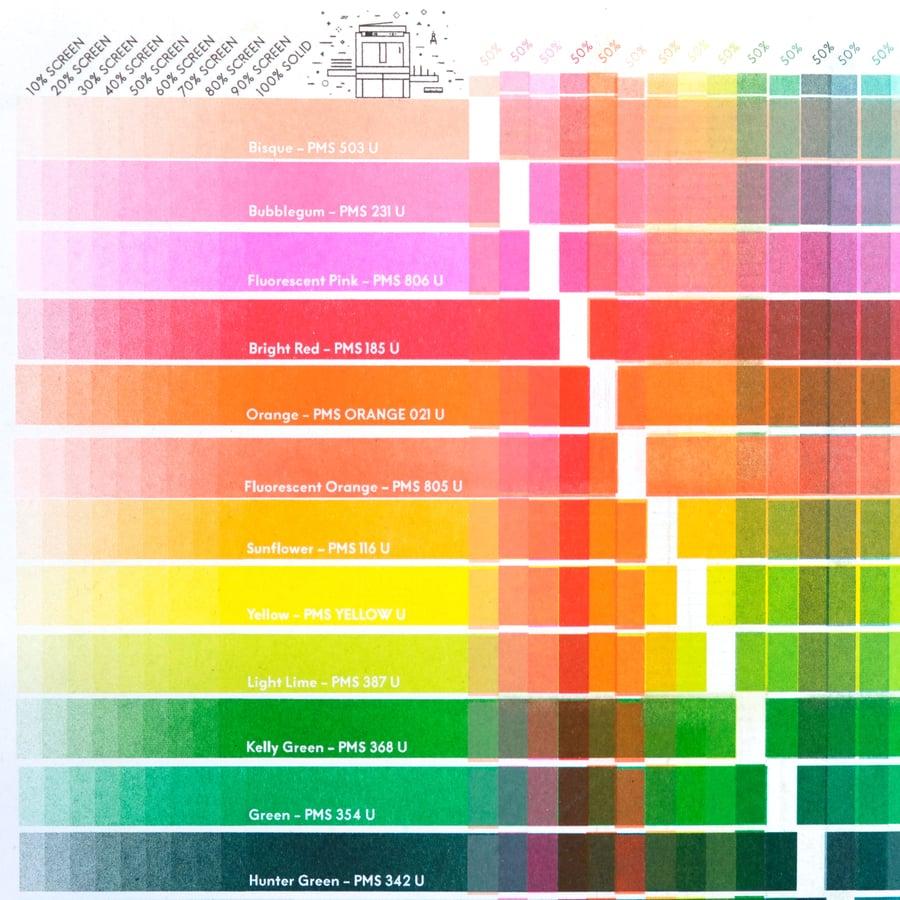 Image of 30-Colour Risograph Overprint Colour Chart