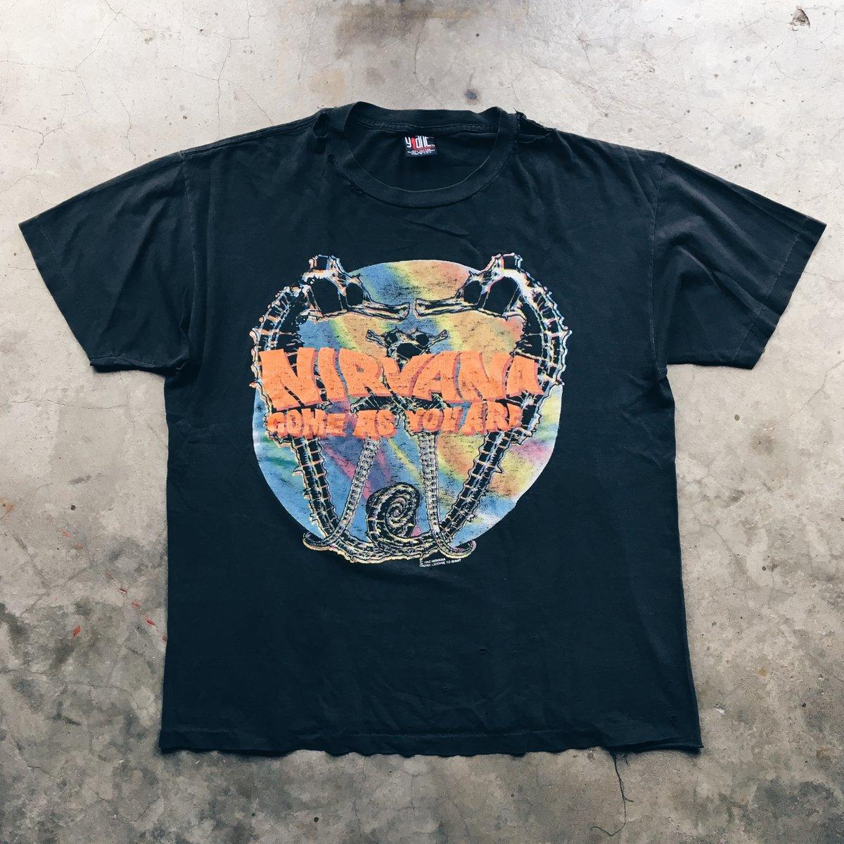Image of Original 1992 Nirvana Come As You Are Tee.