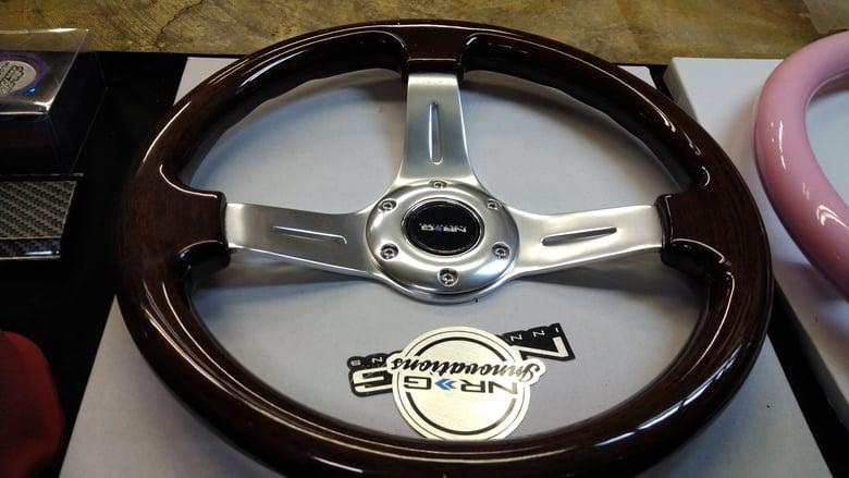 Image of Nrg Wood  Steering Wheel
