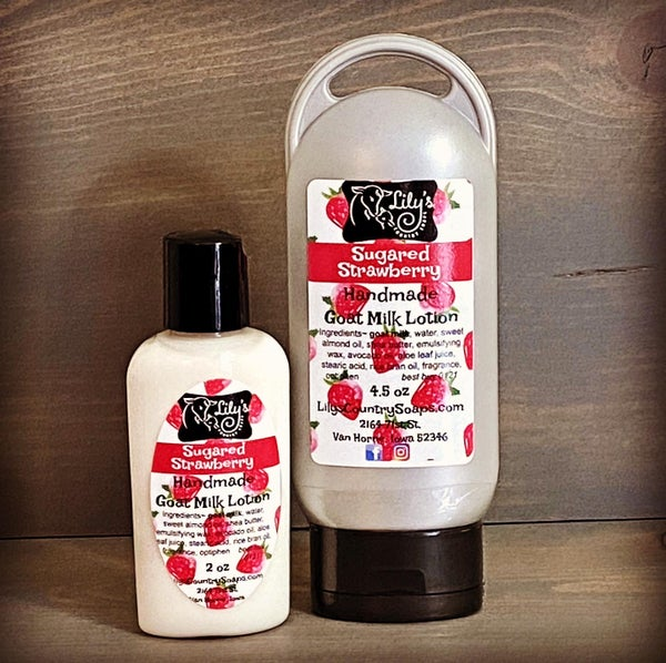 Image of Sugared Strawberry Goat Milk Lotion