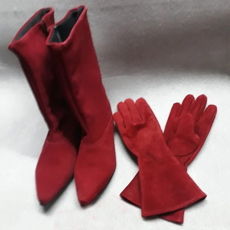 Image of ROYAL GUARD COMBO: Boots and gloves in Suede