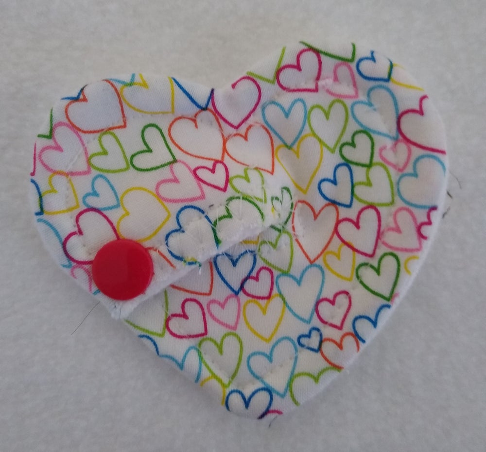 Image of Colourful love hearts! Heart shaped tubie pad