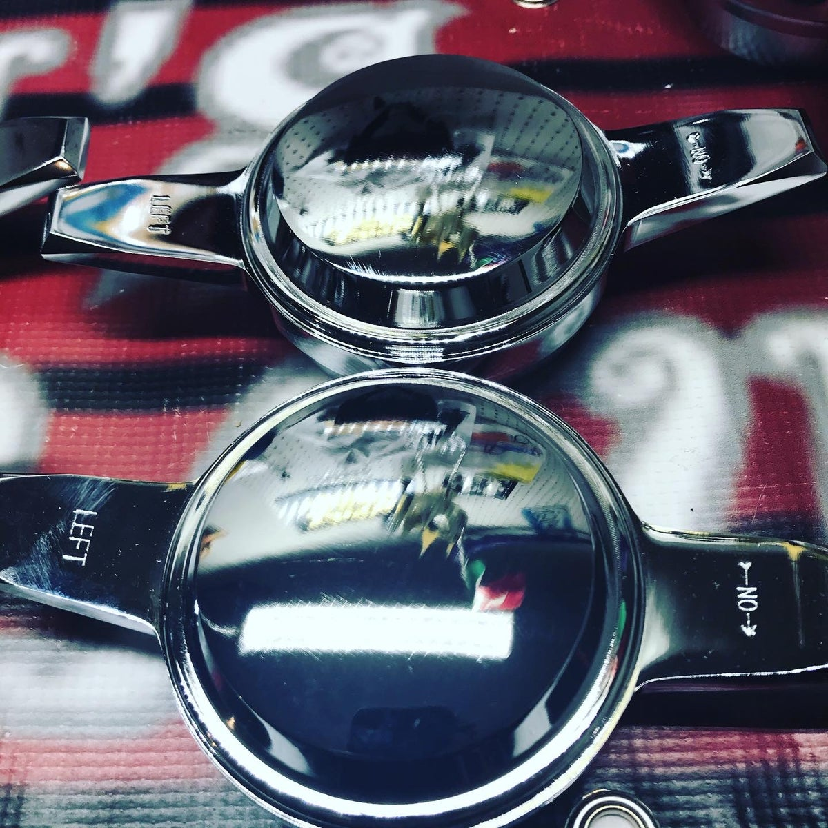 Image of Smooth chrome knock off spinners