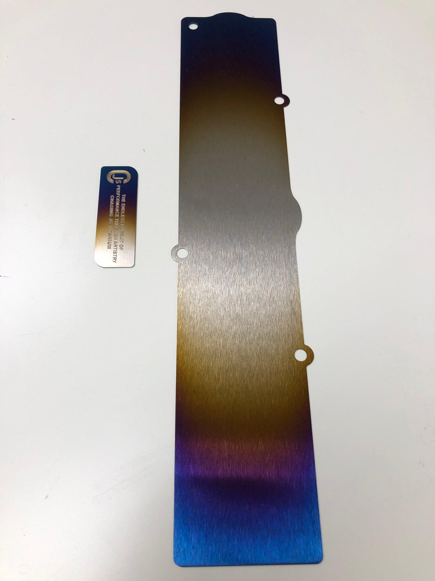 Image of Mitsubishi Evo X 10 Titanium coil pack cover.