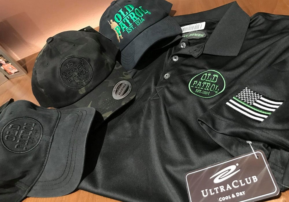 Image of OLD PATROL GREEN LINE GOLF POLO (MEN'S AND WOMEN'S)