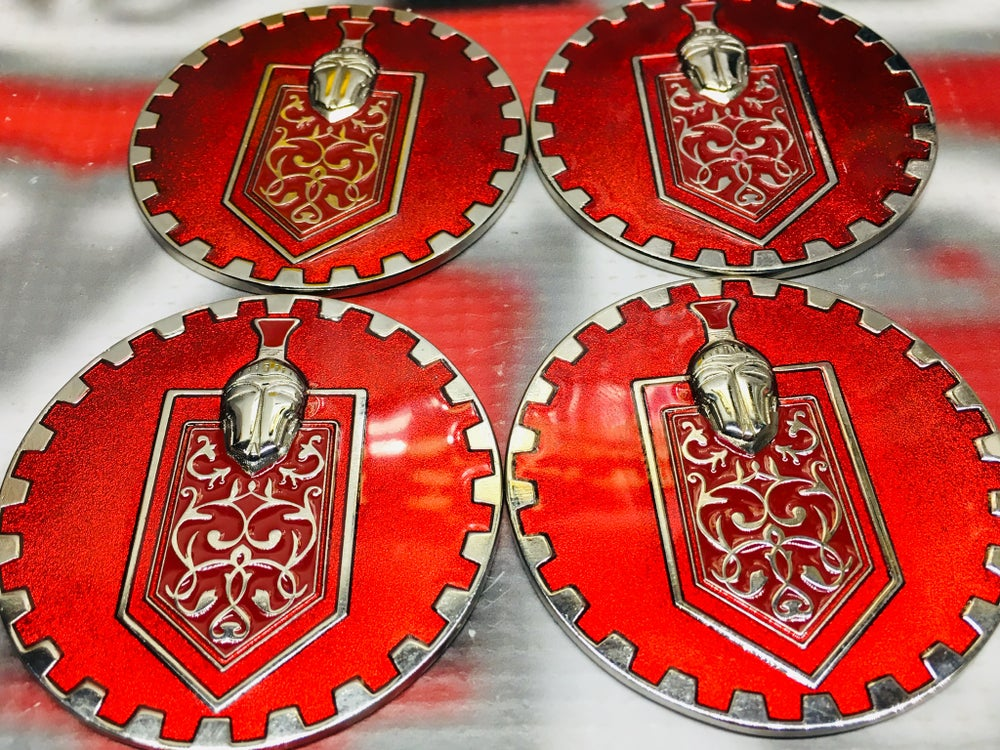 Image of Monte Carlo Red chip emblems