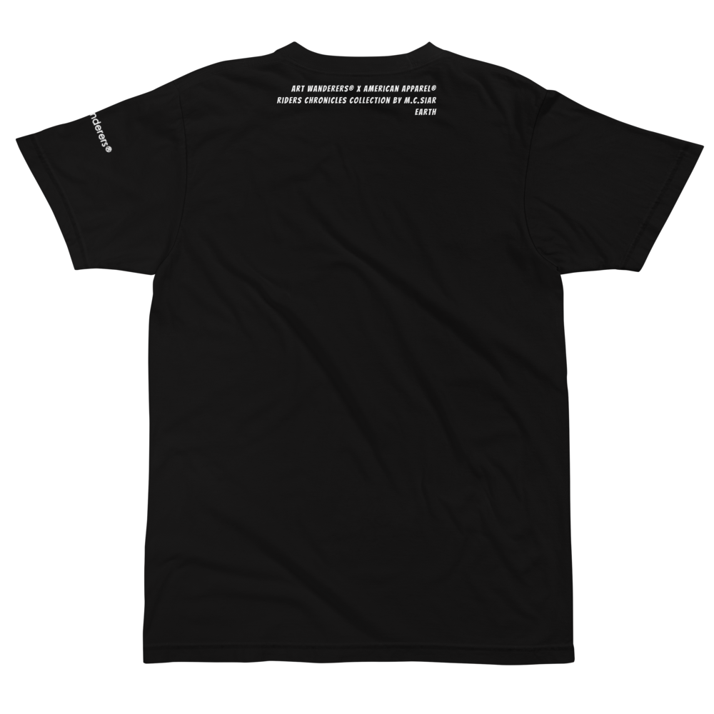 Image of Art Wanderers® X American Apparel® - Rider by Flo Karr - T-Shirt - Black