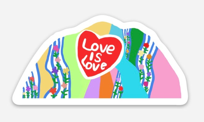 Image of Love Mountain Sticker