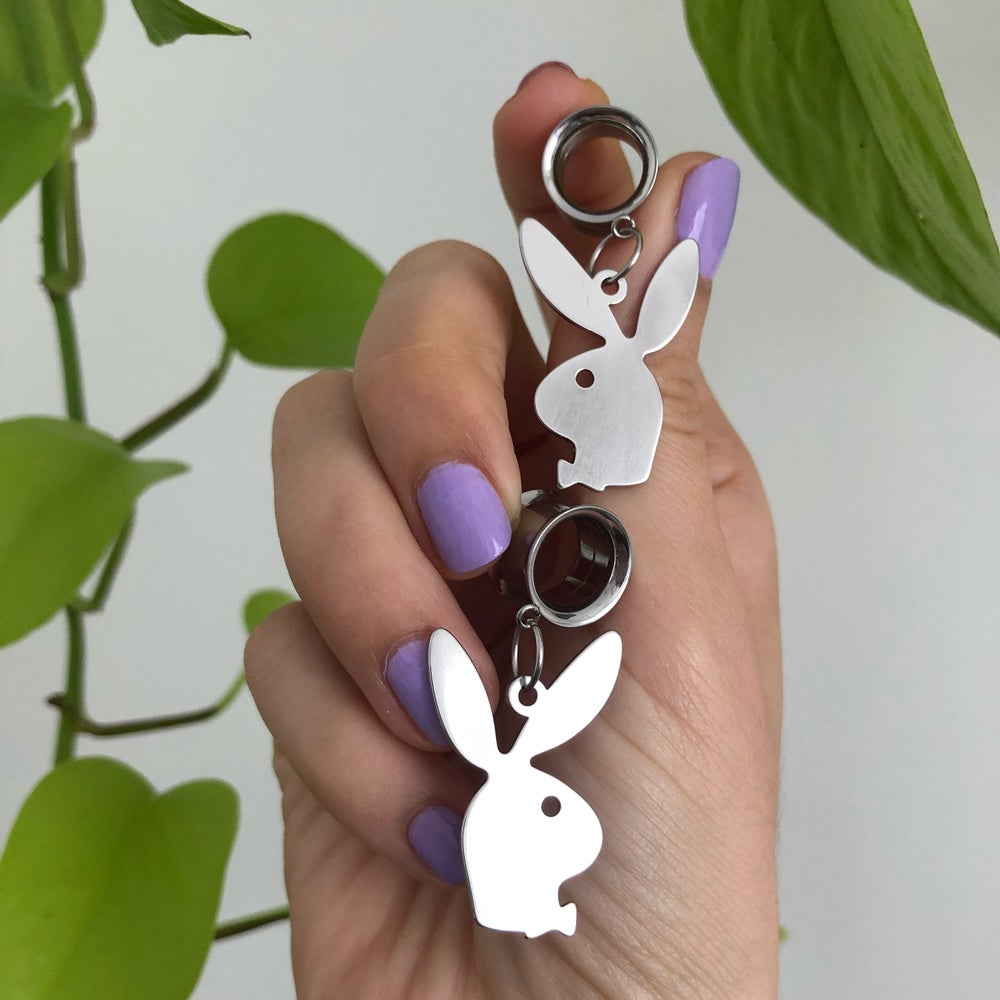 Image of 12mm STAINLESS STEEL TUNNEL EARRINGS