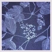 Image of Tissu: blue herbarium