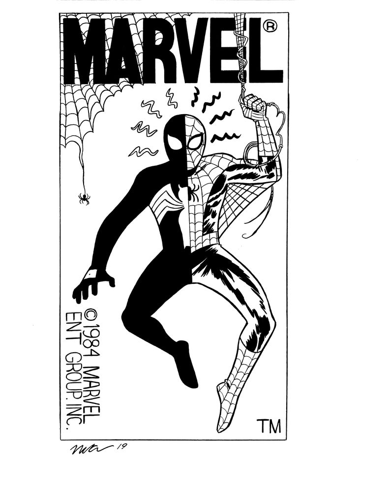 Image of Spider-Man corner box original art