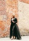 Pearla Detachable Tulle Skirt - Black