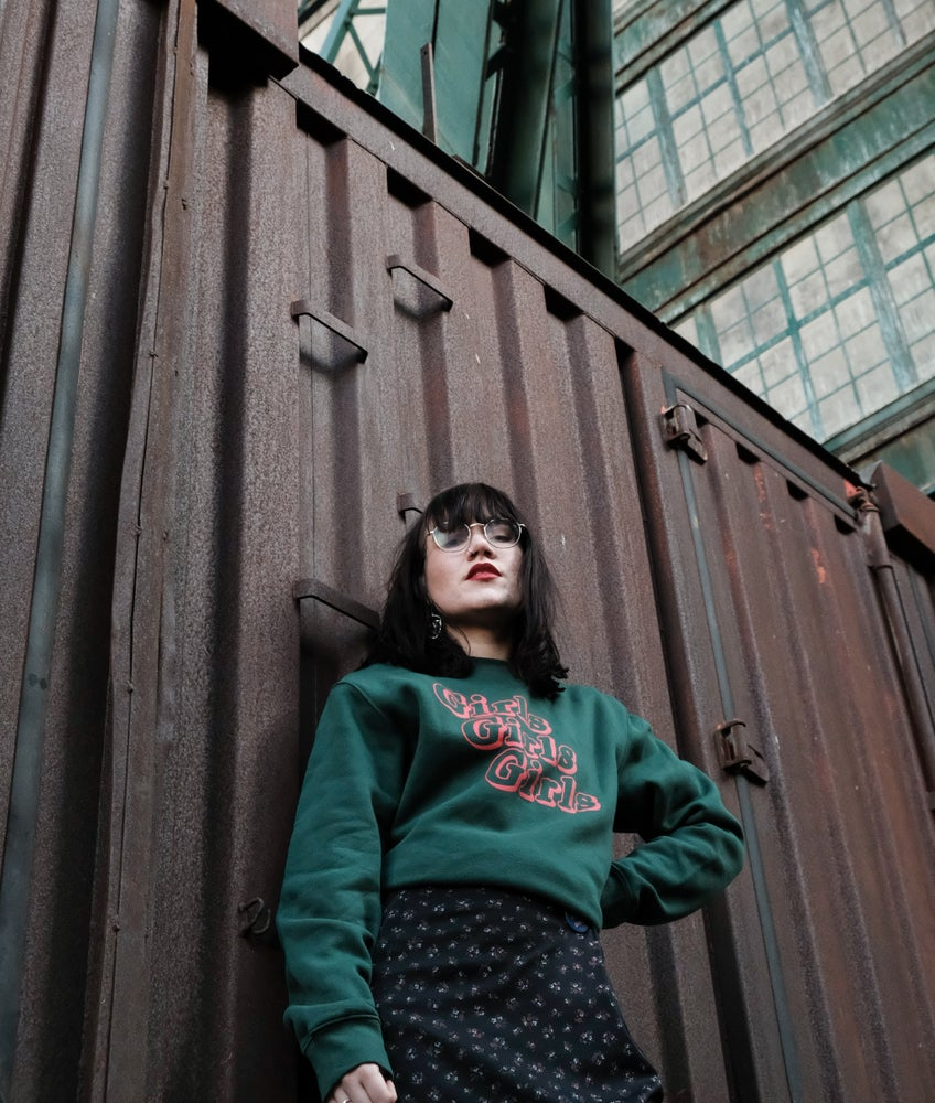 Image of 'GIRLS GIRLS GIRLS' Sweatshirt in GREEN
