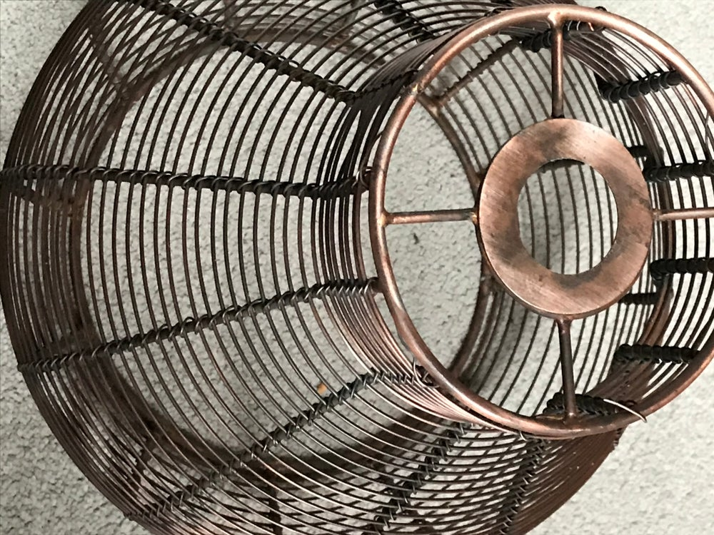 Image of Vintage  Style Copper Cage Shade