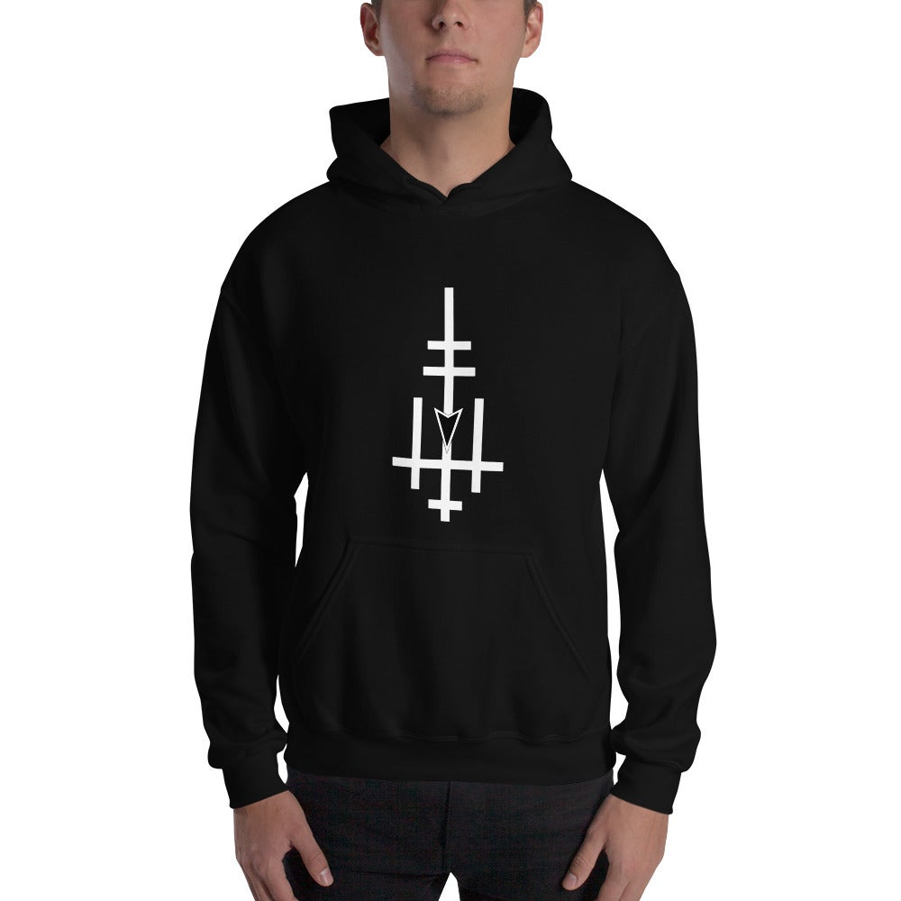 Image of Victory and Reign Cross and Black Legions Circle's Seal Hooded Sweatshirt