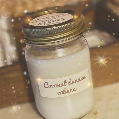 Image of Coconut banana cabana soy candle