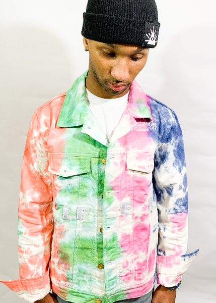 Image of THE LIFER TYE DYE DENIM JACKET