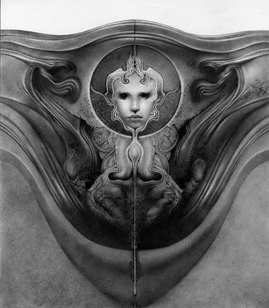 Image of Allen Williams 'The Womb of God' original art