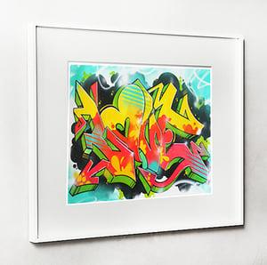 Image of 20X16 Graffiti Love Print